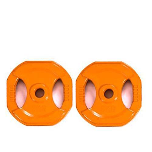 WXJZ Mancuernas Discos,Set Body Pump Juego de Discos Ideal para la práctica de Ejercicios de Crossfit o musculación y finess. for los Hombres y Las Mujeres,5KG*2