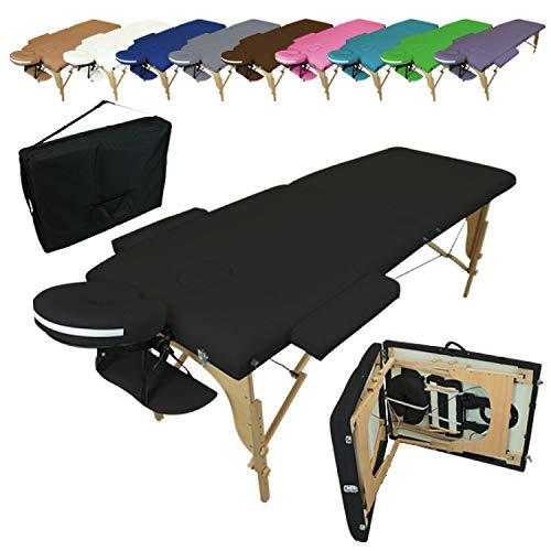 Vivezen ® Table de massage pliante 2 zones en bois avec panneau Reiki + Accessoires et housse de...