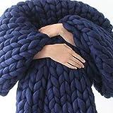 LICHUXIN Manta de punto grueso hecha a mano, gigante, suave,...