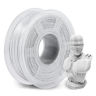 Marble PLA Filament 1.75mm, SUNLU PLA 3D Printer Filament Stone Color, Dimensional Accuracy +/- 0.03mm, 1kg Spool(2.2lbs), White Marble Material