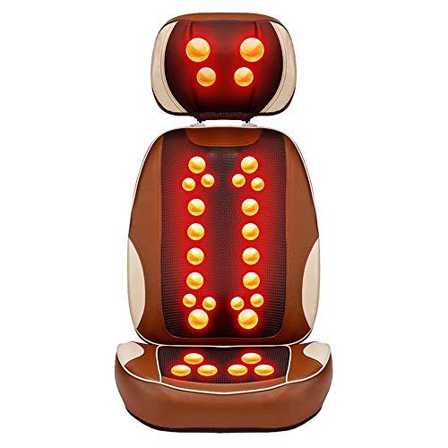 Vobajf Shiatsu Back Massager Back Massager Massaggi Shiatsu Cuscino del Sedile con Calore 30 Nodi Altezza Regolabile Profonda Impastare Self-massaggiatore Sedie e materassini per Massaggi elettrici