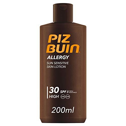 Piz Buin Allergy Protector Solar en Loción SPF 30, Protección Alta para Pieles Sensibles - 200 ml