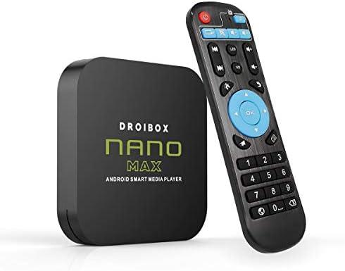 Aeromedia NANO MAX Android TV Box 4GB RAM 64GB ROM Android 10.0 OS Quad Core 802.11AC 2.4Ghz/5Ghz Dual-Band WIFI, Bluetooth 5.0, USB Ports