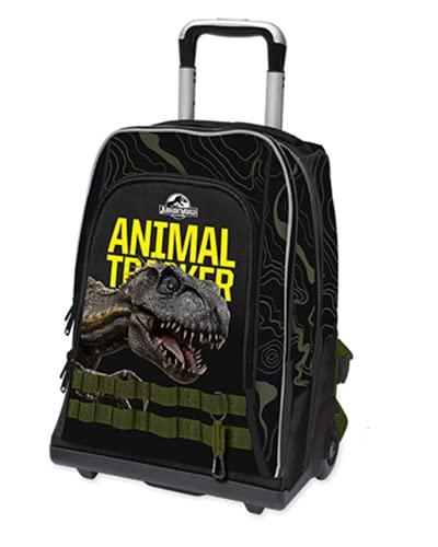 Jurassic world. Trolley Zaino Scuola Double Animal Tracker by Gut Nuova Collezione +...