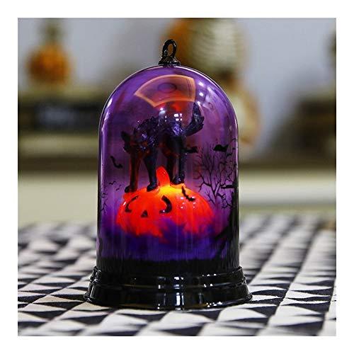 ZHENQ Halloween Mestieri elettronico LED Lampada della Candela di Halloween Bar Decoration rifornimenti del mestiere della Lampada Ornamenti (Colore : C)