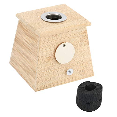 Moxa Box Moxibustion Box Moxibustion Stick Box mit Loch, Moxa Burner Body Therapy Massagegerät Moxibustion Therapie, Moxibustion aus Holz, Gynäkologischer Stuhl Palace