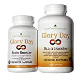 Glory Day® Brain Booster - Improves Memory, Focus and Processing Speed. Powerful Memory Supplement