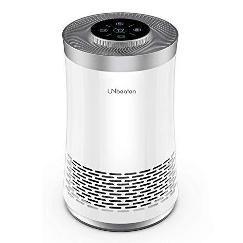 UNbeaten Purificador de Aire de Escritorio para el hogar, sin ozono, Elimina el 99.97% de Polvo, CADR 120m³/h, purificadores de Aire con Verdadero HEPA para alergias, Fumadores