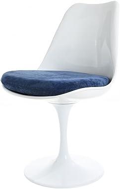 Eero Saarinen Chaise Tulipe Bleu Blanc Et Soumise Style