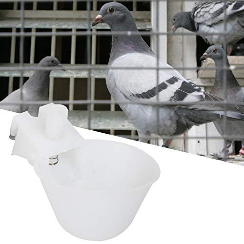 Cikonielf 12 Piezas Bebedero para pájaros Taza alimentador automático de Agua para pájaros Tazas de riego Cuencos bebederos de Jaula para codorniz Paloma Loro pinzón Canario Periquito