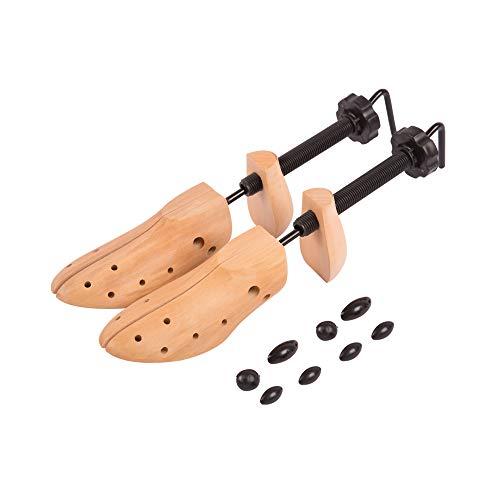 Edaygo Schuhspanner aus Lotusholz mit Schraubgewinde für Damen & Herren, Größe: 41-46, 1 Paar