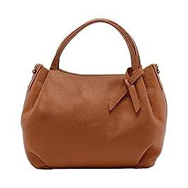 OH MY BAG Sac à main Cuir porté main bandoulière et de travers Femmes en véritable cuir fabriqué en Italie – modèle…