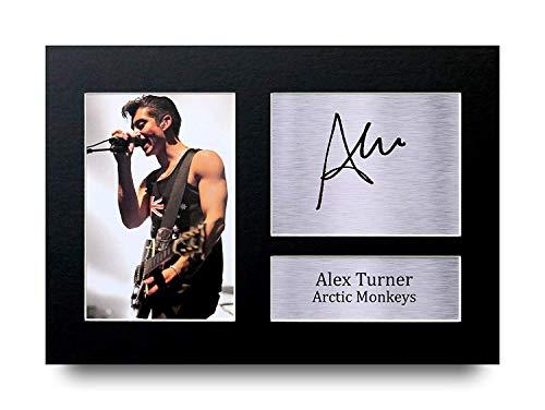 HWC Trading Alex Turner A4 Sin Marco Regalo De Visualización De Fotos De Impresión De Imagen Impresa Autógrafo Firmado por Arctic Monkeys Aficionados A La Música