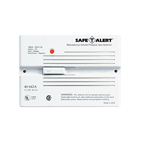 Safe T Alert 40-442-P-WT - Alarma de gas propano/LP (12 V, serie 40, montaje empotrado), color blanco