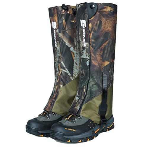 Hihey outdoor gamassen waterdicht voor outdoor broeken voor wandelen, klimmen en sneeuwwandelen camouflage en legergroen