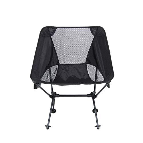 Binchil Portable Camping Beach Chair Ultralight Aviation Aluminum Fishing Chair Leisure Chair Outdoor Camping Folding Chair Camping Outdoor Folding Chair - Black