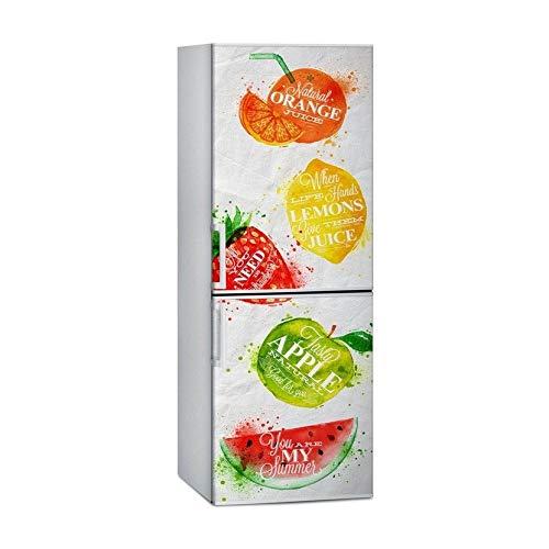 Lorenory Vinilo frigorifico Arte del refrigerador Puerta de la Cubierta del Papel Pintado 3D Auto Adhesivo Lavavajillas Nevera Freeze Etiqueta Niños (Size : 60x66cm 24x26inch)