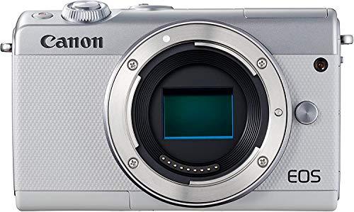 Canon EOS M100 Mirrorless Camera (White) USA Model (Kit Box)
