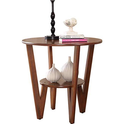 Tables basses Côté Canapé d'angle Table D'appoint Américaine Petite Table Ronde Table De Téléphone Lit Petite Table Cadeau (Color : Brown, Size : 60 * 60 * 58cm)