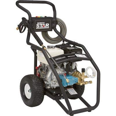 NorthStar Gas Cold Water Pressure Washer Power Washer - 4,000 PSI, 3.5 GPM, Honda Engine, Model...