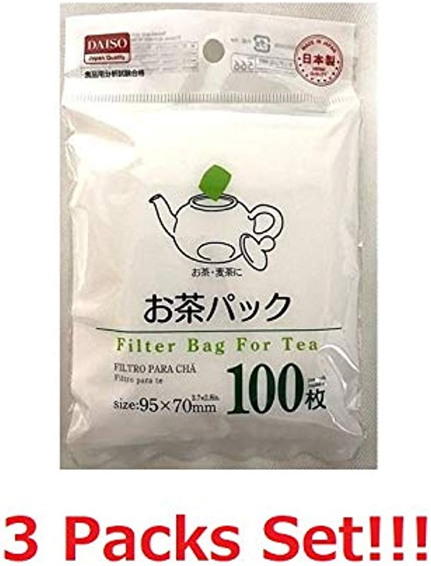 Daiso Japan Loose Tea Filter Bag 3 7x2 8inch 3 Packs Set Total 300pcs