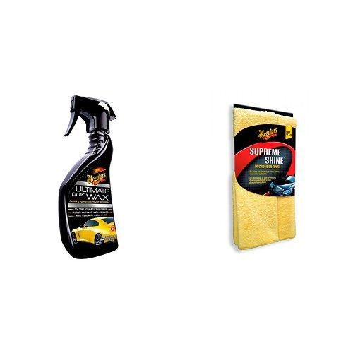 Meguiars Ultimate Quik Wax Sprühwachs mit Supreme Shine Microfiber