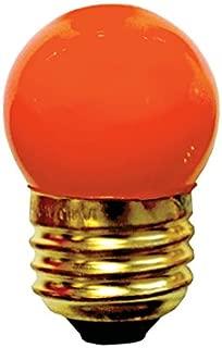 25 Pack 7.5 Watt S11 Medium Base 130 Volt 2500 Hour Ceramic Orange Sign or Indicator Lightbulb