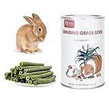 MYSY Juguetes masticables Naturales Palitos de heno, Snacks molares para cobayas, Conejos, Chinchillas, hámsters, 28 palitos (Sabor a Alfalfa)