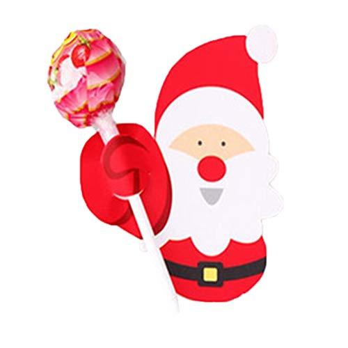 Xinjieda 50pcs Alter Mann Penguin-Weihnachtsparty Lollipop Einzigartige Zuckerpapier Karten Halter-Standplatz-Verzierungen