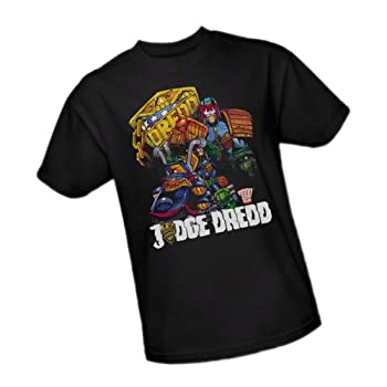 Judge Dredd Bike and Badge Adult T-Shirt XXX-Large Black