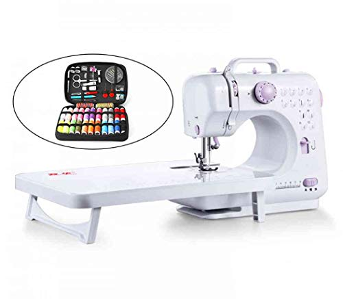 Electric Sewing Machine Portable Household Sewing Machine Beginner Free-Arm Crafting Mending Machine for DIY Crafting (with Table and 24 Sewing Kit Suit,US Plug)