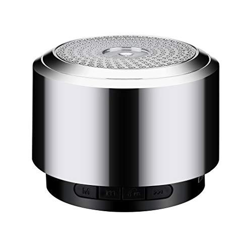 Skryo🥇🥇 Mini Bluetooth Lautsprecher USB Led Licht Wireless Portable Music Box Subwoofer Klein(Zeitlich begrenzter Rabatt 8,99 versandkostenfrei) (Gray)