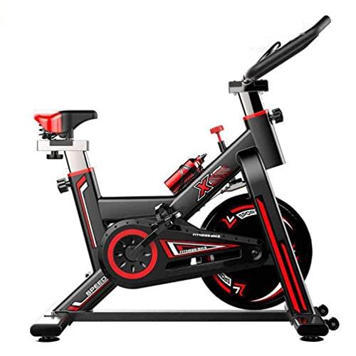 SAFGH Bicicletas de Ejercicio Profesionales para Interiores, con Pantalla de medidor electrónico: escaneo, Velocidad, Tiempo, Distancia, calorías Spin Bike Cardio Workout