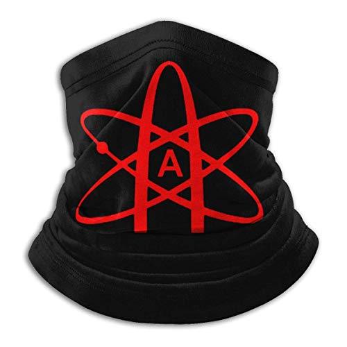 zzzswbl Chapeaux Atheist Atom Symbol Warmer Unisexe Sport Neck Gaiter Travail Respirant sans Soudure Personnalisé Fête Motocyclisme Hiver Été Écran Solaire Imprimé Bandanas Extérieurs Cha