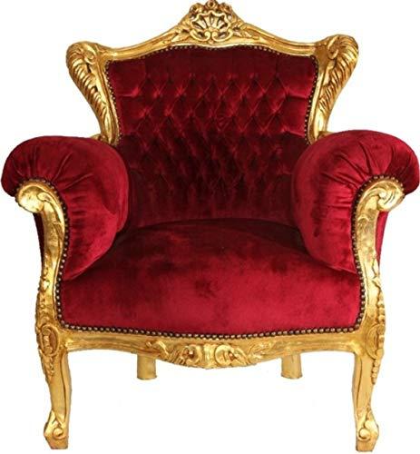 Casa Padrino sillón Barroco Burdeos/Oro - Muebles de salón barrocos