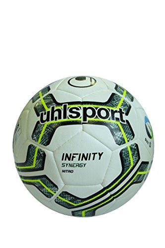 uhlsport Infinity Synergy Nitro 2.0 Fußball Ball, weiß/Petrol/Fluo Lime, 5