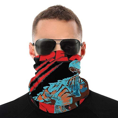 BDGAjdka T-Rex Danger Face Face Scarf Seamless Bandanas Multifunctional Headwear For Men Women