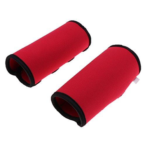 perfk 2 Stück Hunde Gelenkschutz Bandage Ellenbogenschutz Hinterbein Sprunggelenk Bandage - Rot L