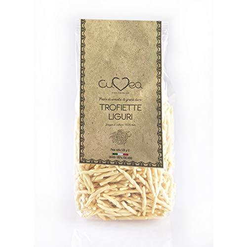 Trofiette Liguri Artigianali Trofie - 500 g - Grano 100% Italiano - Paese di coltivazione e di molitura del grano: ITALIA -