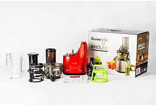 Kuvings Professional B1700 (Red) 240 Watt Cold Press Whole Slow Juicer