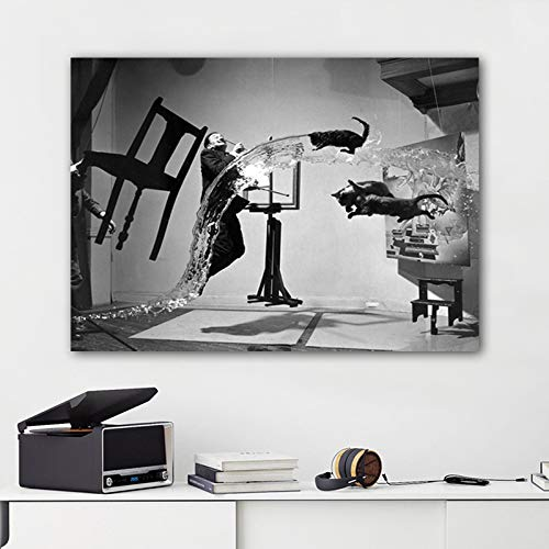 FPUYB Salvador Dali Abstract Portrait ation Puzzle de Juguetes para niños Adultos 1000 Piezas 75x50cm Adecuado para Juegos Familiares, Castillos, Historia, Atracciones, excursiones, Parques