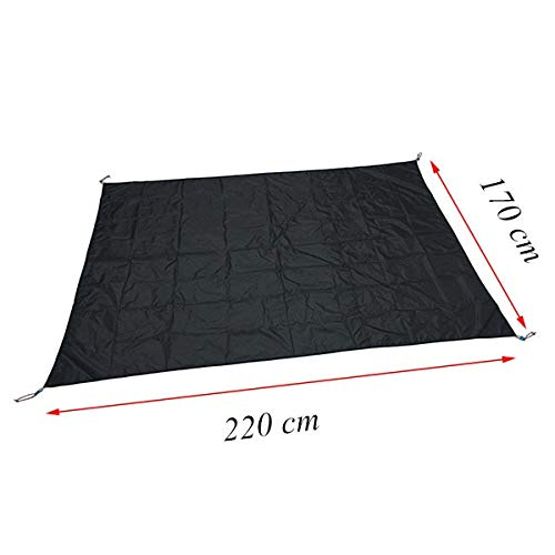 Gxbld-yy 3 persons tent footprint 220 * 170 cm 3F UL Gear moistureproof PU coated groundsheet (color : Black)