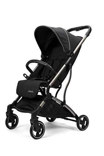 Osann Boogy Sportwagen-Buggy mit Liegefunktion ab Geburt bis 22 kg - inklusive Regenverdeck, Transporttasche und Babyschalen-Adapter Black