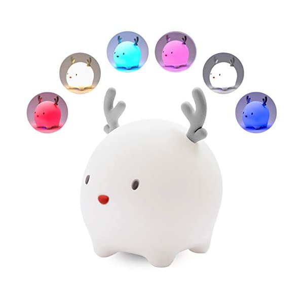 Night Light for Kids, Rechargeable Cute Nightlights for Baby, Children Sleep Breathing Lamp for Nursery Gift