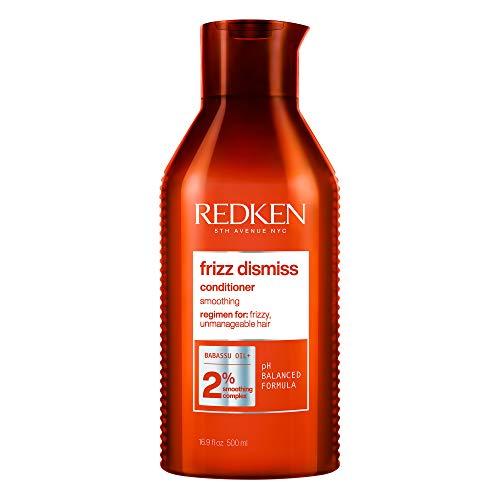Redken Frizz Dismiss Balsamo, Conditioner Professionale | Capelli Normali a Crespi | Idrata, districa e combatte il crespo, donando morbidezza nutrimento e brillantezza | 300 ml
