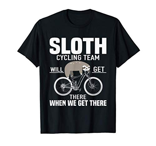 Sloth Bicycle Bell - Sloth Cycling Team T-Shirt