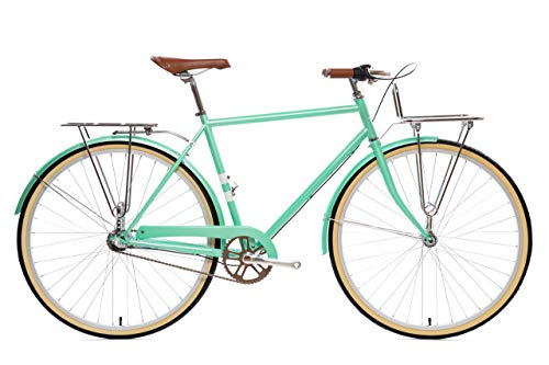State Bicycle Co. City Bike | The Keansburg Lightweight 3-Speed Dutch Style Urban Cruiser | Small 48cm