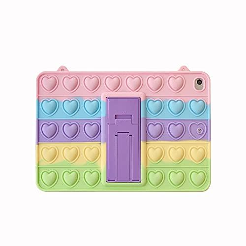Relive Stress Pop Fidget Juguetes Push It Bubble Kids Funda de silicona para iPad 9.7 iPad 10.2 pulgadas Air3 10.5 pro 11 mini 5 Tablet caso (color Samsung T500/505/507 10.4 pulgadas)