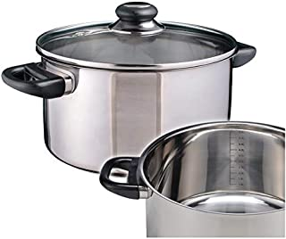 FGSDG Stainless Steel Pot Steamed Soup Pot Ears Soup Pot ARC Simmering Induction Cooker