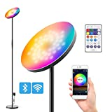 TELAM Lámpara de pie LED WiFi 24 W, RGBW Regulable Lámpara de pie Sincronización de música/Temporizador/Función de Memoria, Compatible con Alexa Google Home Ideal para Fiestas